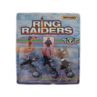 Lot de 3 avions Ring Raiders - Commander Blackjack - Skull Squadron - Matchbox