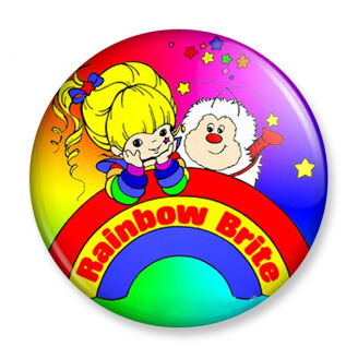 Badge : Rainbow Brite - Blondine et Petit Malin