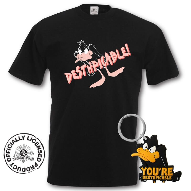 T-shirt Daffy Duck + porte-clés