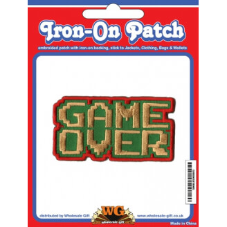 Ecusson Retro Gaming - Game Over