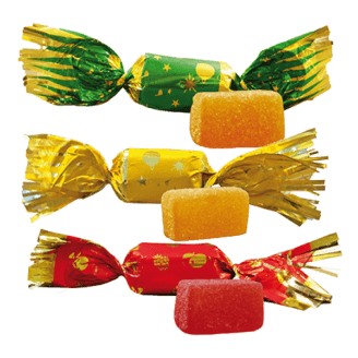 Papillotes pâte de fruits - Lot de 10