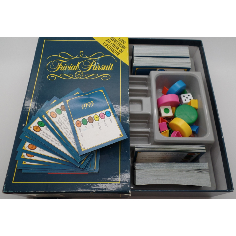 jeu de soci t trivial pursuit ann e 1993. Black Bedroom Furniture Sets. Home Design Ideas
