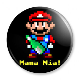 Badge : Mario - Mama Mia