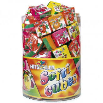Pâte à macher SOFTI en cubes - Goût fruits - Lot de 5