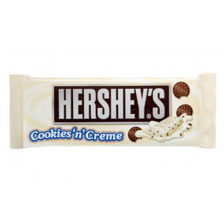 Barre chocolatée Hershey's Cookies and Creme - DDM 07/08/2019