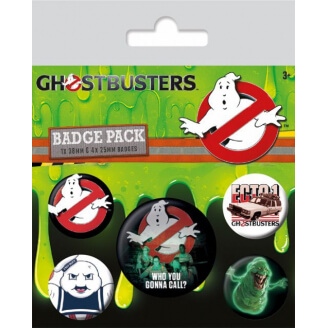 Badges SOS Fantômes - Lot de 5