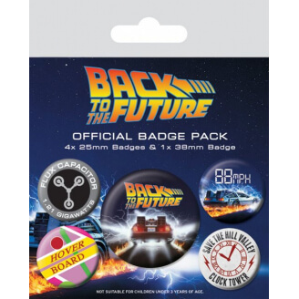Badges Retour vers le Futur - Lot de 5