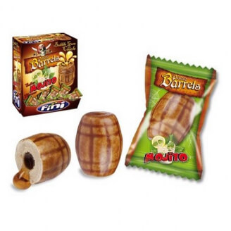 Chewing-gum Baril de pirate Mojito - Lot de 5