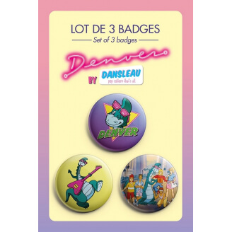 Badges Denver - Lot de 3