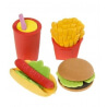 Gommes Fast-Food - Lot de 4