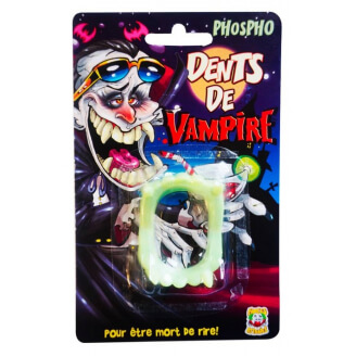 Dents de vampire phosphorescentes - Halloween