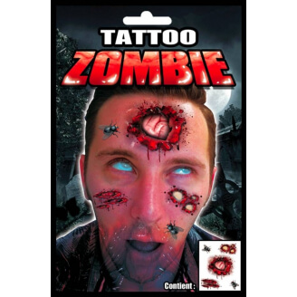 Tatouage Zombie - Halloween