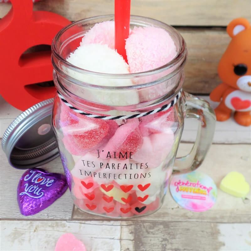 "Mason Jar gourmand ""Love"" - Saint Valentin"