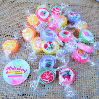 Bonbons Rock aux fruits - Lot de 20