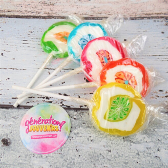 Sucette traditionnelle ancienne - Rock Lollie - Lot de 5