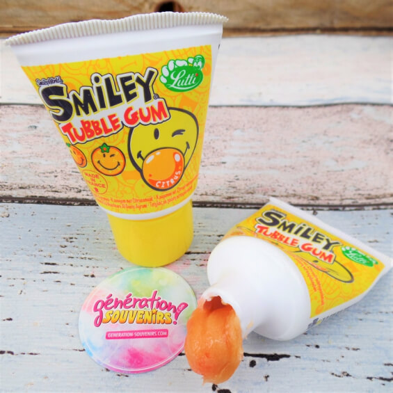 Chewing-gum Tubble Gum Smiley - Agrumes