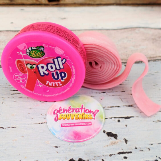 Chewing-gum : Roll'Up - Bubble Gum en rouleau