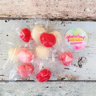 Bonbon coeur fourré aux fruits - Lot de 10