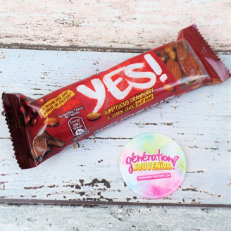 Barre Yes fruits secs au chocolat noir et cranberry - DDM 08/2019