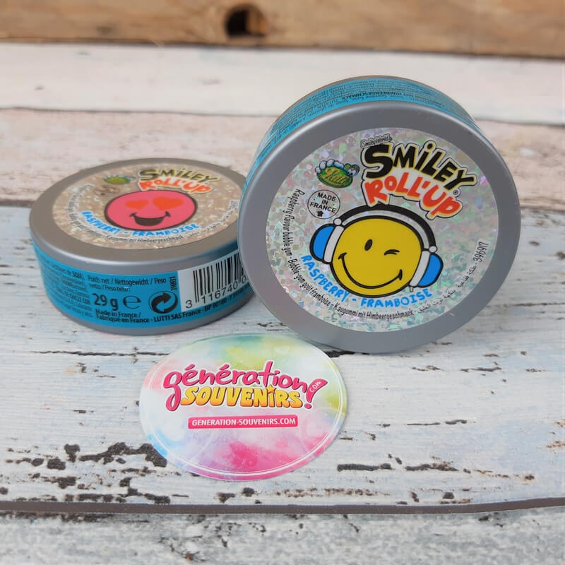 Chewing-gum - Roll'up Smiley - Framboise