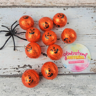 Minis citrouilles en chocolat - Halloween - Lot de 20