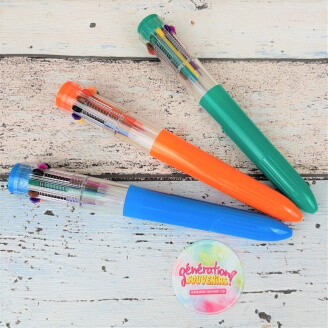 Stylo Bille 10 couleurs