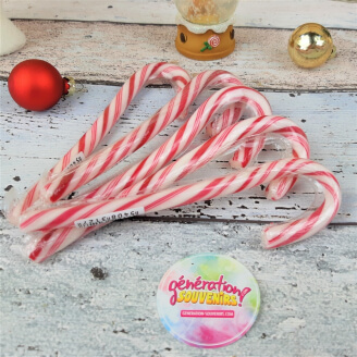 Candy Cane rouge et blanc - Lot de 5