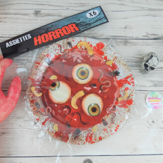 Assiettes en carton Horror Party