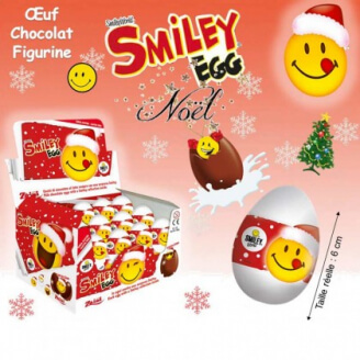 Oeuf chocolat surprise - Smiley de Noël