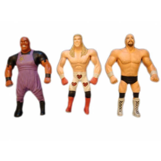 Catch WWF : Lot de 3 figurines
