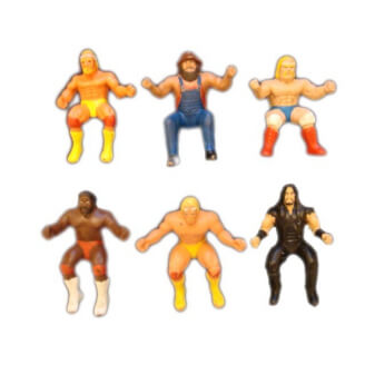 Catch WWF : Lot de 6 petites figurines