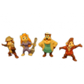 Disney : Tic et Tac, les Rangers du Risque : Lot de 4 figurines