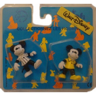 Disney : Mickey : Lot de 2 Figurines